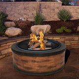 Rustic Stone Wood Burning Fire pit - Clever and Modern Home and office furniture. Pet Furniture