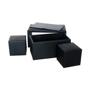 5 Piece Multi-Functional Storage Bench Set - Clever and Modern Home and office furniture. Pet Furniture