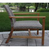 Teak Decor Outdoor Patio Set 3 Piece Lounge Seating Group