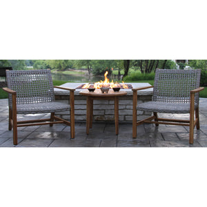 Teak Decor Outdoor Patio Set 3 Piece Lounge Seating Group - Clever and Modern Home and office furniture. Pet Furniture