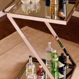 Gold 'Z' Rolling Bar Cart - Clever and Modern gadgets and furniture for your home and office.