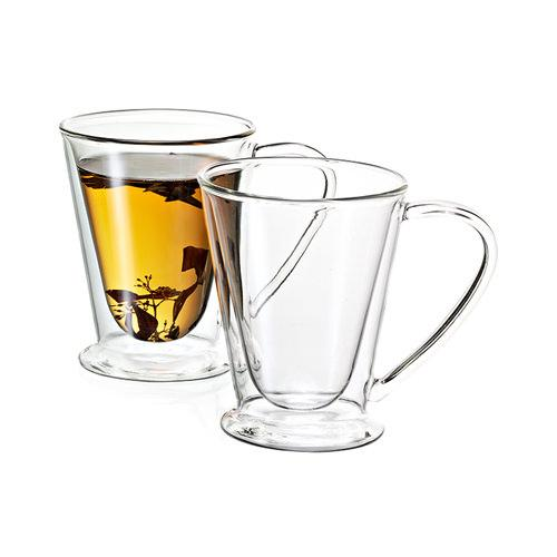 Avanti Hero Twin Wall Glass Mug Set, Accessories - Coffea Coffee