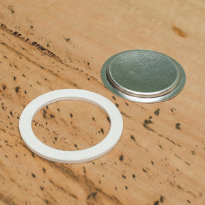 Rubber Seal & Filter: Stainless Steel, Replacement Parts - Coffea Coffee