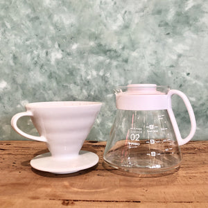 Hario V60 Pour Over Kit - Ceramic White, Coffee Maker - Coffea Coffee
