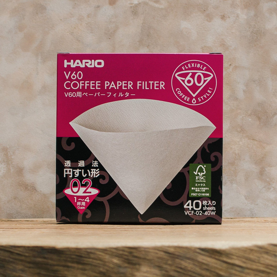 Hario V60 Filter Papers, Filters - Coffea Coffee