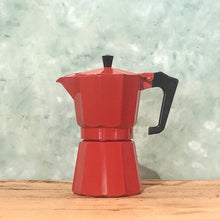 Load image into Gallery viewer, Pezzetti Red Stovetop Espresso Maker - Coffea Coffee