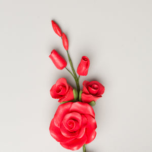 "3.5"" Rose Filler - Medium - Red (15 per box)"