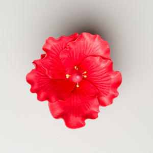 "2.5"" Hibiscus - Small - Red (25 per box)"