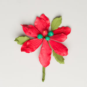 "2.5"" Poinsettia - Small - Red"