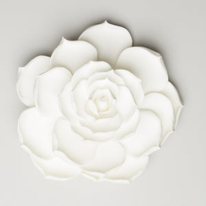 "4"" Succulent Flower - Large - White"
