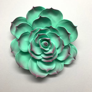 "4"" Succulent Flower - Large - Green"