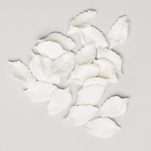 Mini Rose Leaves -  White NO WIRE