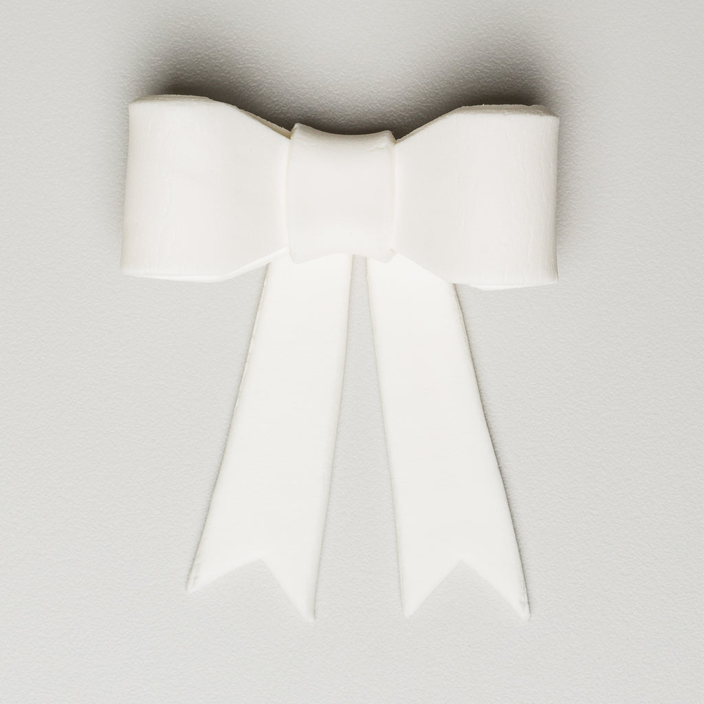 "1-7/8"" Full Bow w/ Tails - Medium - White (16 per box)"