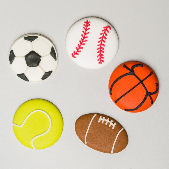 Royal Icing Sports Balls Assortment