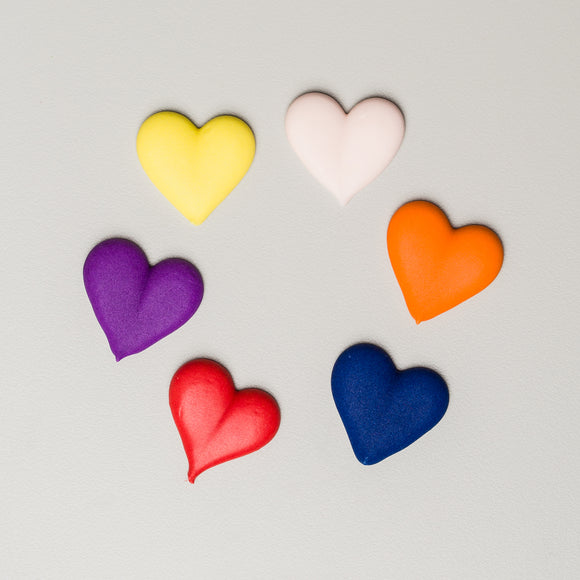 Royal Icing Heart Assortment (216 per box)