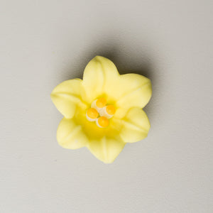 "1.5"" Royal Icing Easter Lily - Yellow"