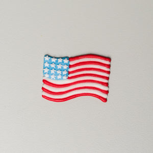 "1.5"" Royal Icing American Flags"