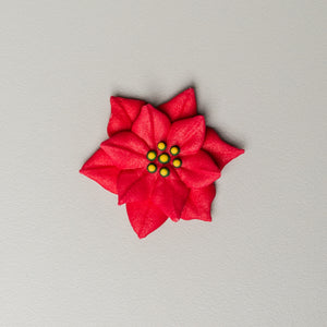 "1.75"" Royal Icing Poinsettia - Large - Red (54 per box)"