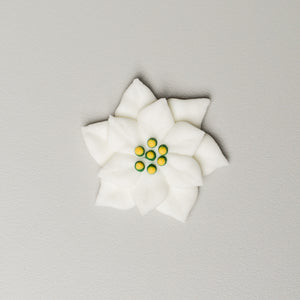 "1.75"" Royal Icing Poinsettia - Large - White"