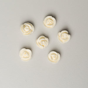 ".5"" Mini Classic Royal Icing Rose - Ivory (400 per box)"