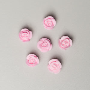 ".5"" Mini Classic Royal Icing Rose - Pastel Pink (400 per box)"