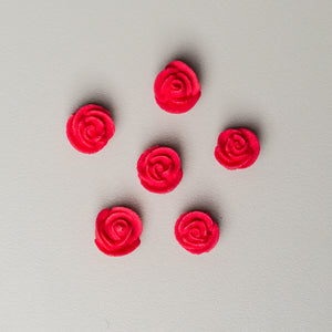 ".5"" Mini Classic Royal Icing Rose - Red (400 per box)"