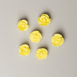 ".5"" Mini Classic Royal Icing Rose - Pastel Yellow (400 per box)"