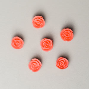 ".5"" Mini Classic Royal Icing Rose - Coral (400 per box)"
