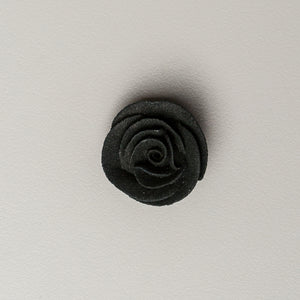"1"" Small Classic Royal Icing Rose - Black"