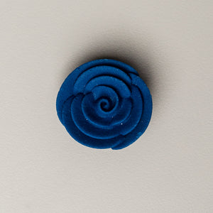 "1.25"" Medium Classic Royal Icing Rose - Royal Blue"