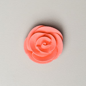 "1.25"" Medium Classic Royal Icing Rose - Coral (32 per box)"
