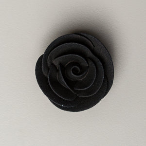 "1.5"" Large Classic Royal Icing Rose - Black"