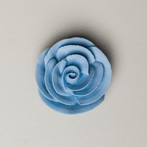 "1.5"" Large Classic Royal Icing Rose - Pastel Blue"