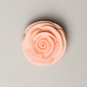 "1.5"" Large Classic Royal Icing Rose - Peach"