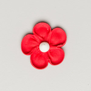 "1.5"" Royal Icing Blossom - Red"