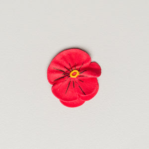 "1"" Royal Icing Pansy - Medium - Red (120 per box)"