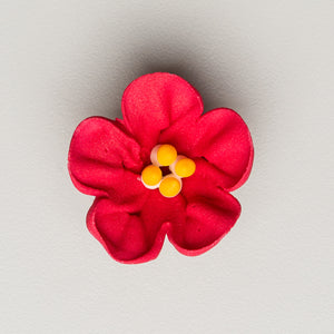 "1.5"" Royal Icing Petunia - Medium - Red (32 per box)"