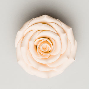 "2.5"" Sugar Rose - Ivory (16 per box)"