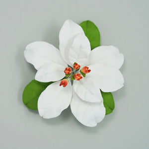 "2.5"" Poinsettia - Small - White - Kosher"