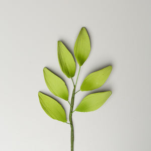 "7"" Lily Leaf Spray - Green"