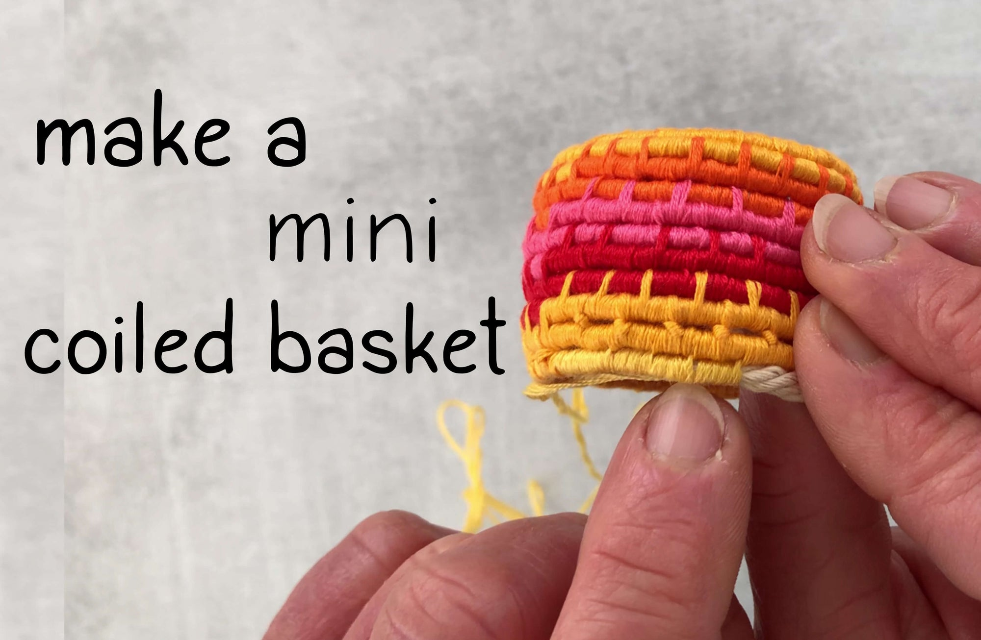 Make a Coiled Basket with Embroidery Floss
