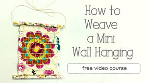 Learn to Weave an Easy Mini Tapestry