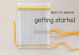 How to Begin Weaving on  a Frame Loom