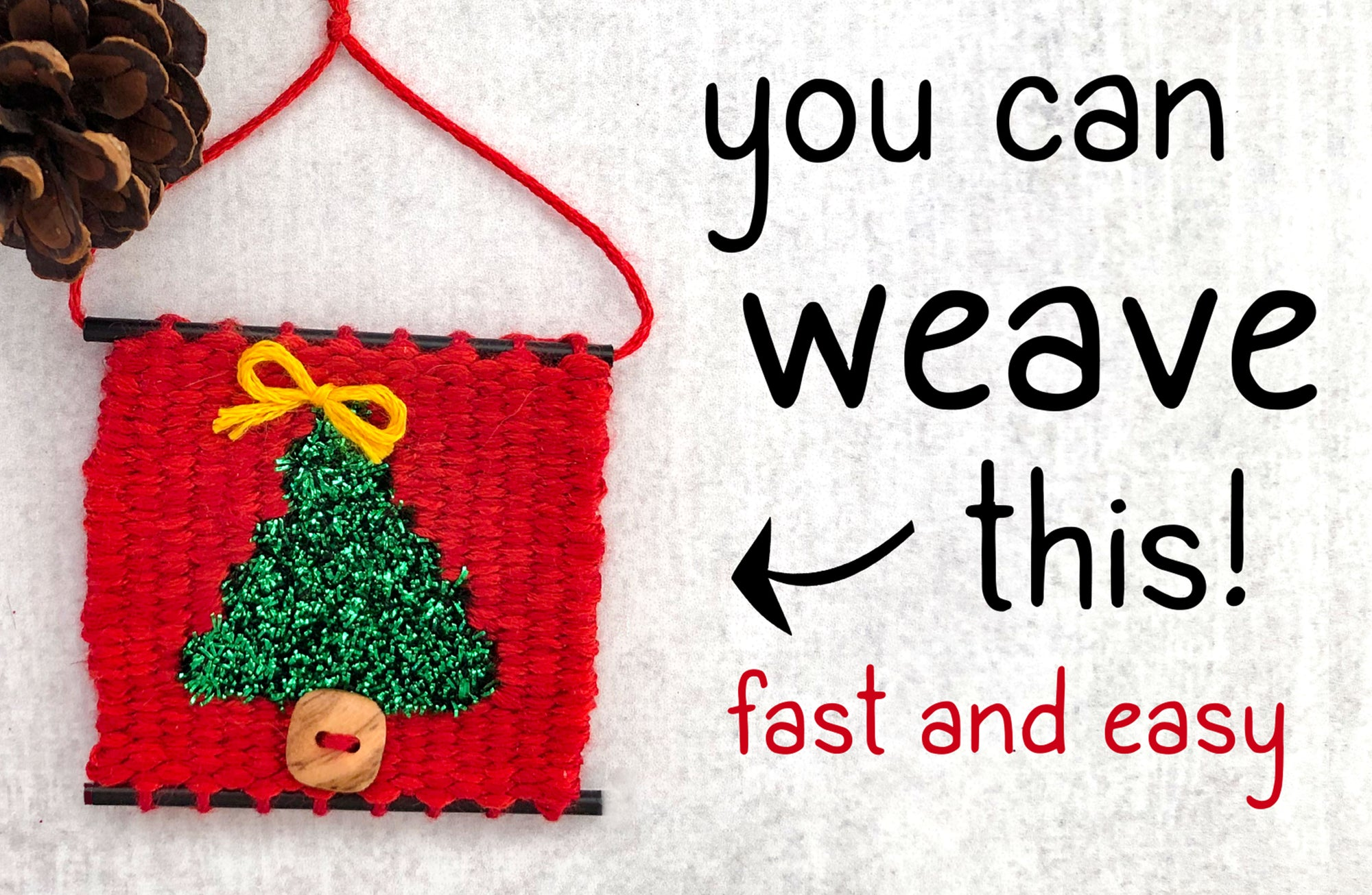 Weave a Tiny Christmas Tree
