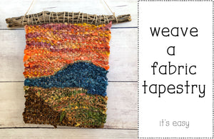 Tapestry Weaving with Fabric Strips