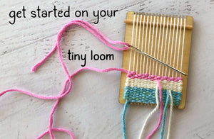 How to Weave on a Tiny Little Loom