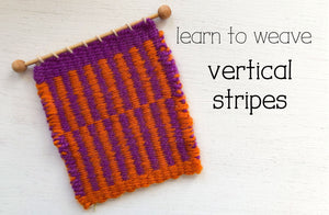Learn to Weave Vertical Stripes on a Frame Loom