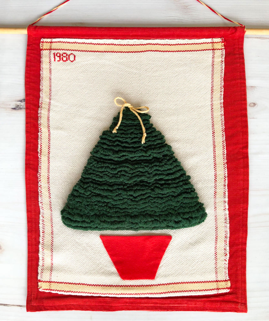 handwoven Christmas tree