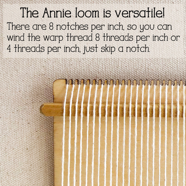Little Wooden loom 8 dent