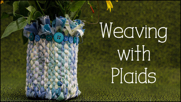 Weaving with plaid fabric course